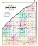 County Outline Map, Hamilton County 1888