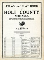 Title Page and Index, Holt County 1915