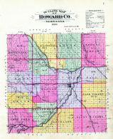 Outline Map, Howard County 1900