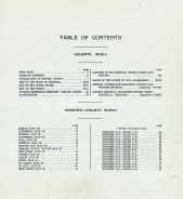 Table of Contents, Howard County 1917