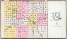 County Outline Map, Johnson County 1900