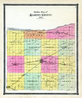 County Outline Map, Kearney County 1905
