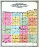 County Outline Map, Kearney County 1923