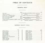 Table of Contents, Kearney County 1923