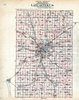 County Outline Map - School District, Lancaster County 1903