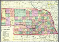 Nebraska State Map, Lincoln County 1907