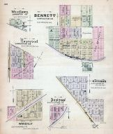 Bennett, Woodlawn, Raymond, Waverly, Denton, Hickman, Nebraska State Atlas 1885
