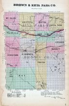 Brown and Keya Paha Counties, Nebraska State Atlas 1885