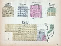 Burwell, Cedar City, Cumminsville, Preston, Salem, Nebraska State Atlas 1885