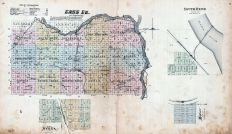 Cass County, Avoca, South Bend, Manley, Nebraska State Atlas 1885