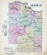 Cedar County, Nebraska State Atlas 1885