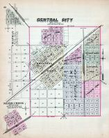 Central City, Silver Creek, Nebraska State Atlas 1885
