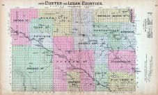Custer and Logan Counties - Part, Nebraska State Atlas 1885