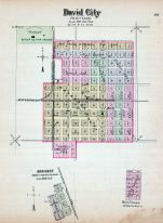 David City, Brainard, Nebraska State Atlas 1885