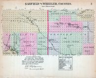 Garfield and Wheeler Counties, Nebraska State Atlas 1885