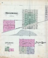 Holdrege, Sacramento, Phelps Center, Nebraska State Atlas 1885