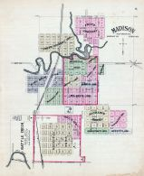 Madison, Battle Creek, Nebraska State Atlas 1885