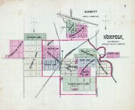 Norfolk, Burnett, Nebraska State Atlas 1885