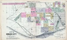 Omaha City - Southeast, Nebraska State Atlas 1885