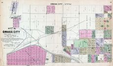 Omaha City - Southwest, Nebraska State Atlas 1885