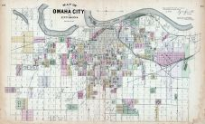 Omaha City and Environs, Nebraska State Atlas 1885