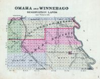 Omaha and Winnebago Reservation Lands, Nebraska State Atlas 1885