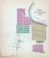 Peru and Mt. Vernon, Johnson, Nebraska State Atlas 1885
