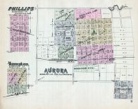 Phillips, Hampton, Aurora, Nebraska State Atlas 1885