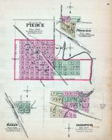 Pierce, Hooper, Hadar, Plainview, Nebraska State Atlas 1885