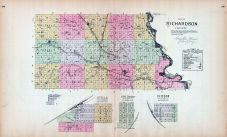Richardson County, Stella, Shubert, Verdon, Nebraska State Atlas 1885