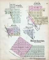 Saltillo, Firth, Roca, Malcolm, Denver Junction, Nebraska State Atlas 1885