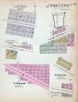 Shelton, Cozad, Elm Creek, Gothenburg, Overton, Nebraska State Atlas 1885