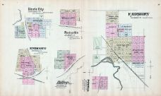 Steele City, Endicott, Reynolds, Diller, Powell, Fairbury, Nebraska State Atlas 1885