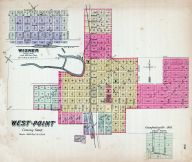 West-Point, Wisner, Crawfordisville Add. to Westpoint, Nebraska State Atlas 1885