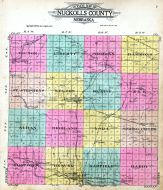 County Outline Map, Nuckolls County 1917