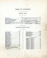 Table of Contents, Nuckolls County 1917
