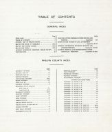 Table of Contents, Phelps County 1920