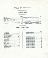 Table of Contents, Pierce County 1920