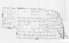 Nebraska State Map, Richardson County 1963