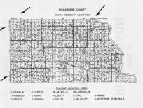 Richardson County Resident Locations, Richardson County 1963