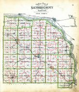 County Outline Map - School Districts, Saunders County 1907