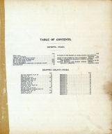 Table of Contents, Seward County 1908