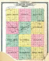 County Outline Map, Stanton County 1919
