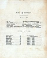 Table of Contents, Stanton County 1919