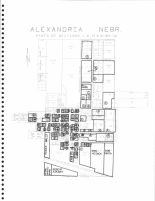 Alexandria Section Map, Thayer County 1976