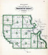 County Outline Map - Road District, Washington County 1908