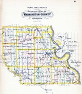 County Outline Map - Rural Mail Routes, Washington County 1908