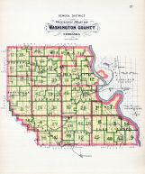 County Outline Map - School District, Washington County 1908