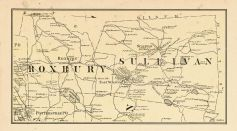 Roxbury and Sullivan Township, Chapman Pond, Woodward Pond, Cheshire County 1877