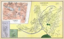 Enfield, Lebanon Town, Enfield Center, Locke Town, New Hampshire State Atlas 1892